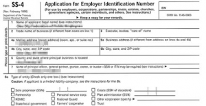 Apply For Tax ID Number